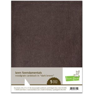 Lawn Fawn Woodgrain Card Stock - Dark Brown