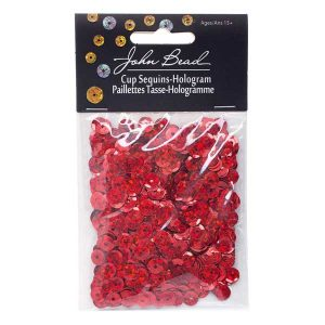 John Bead Round Sequins - Red