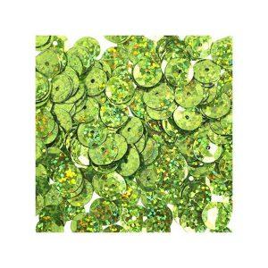 John Bead Round Sequins - Lime Green class=