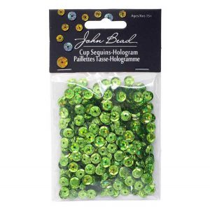John Bead Round Sequins - Lime Green