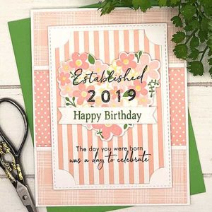 Papertrey Ink Just Sentiments: Established Stamp class=