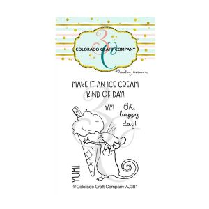 Colorado Craft Company Ice Cream Day Mini Stamp