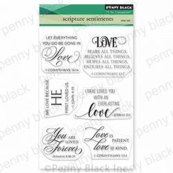 Penny Black Scripture Sentiment Stamp Set