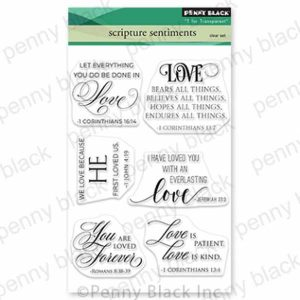 Penny Black Scripture Sentiment Stamp Set