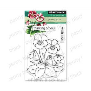 Penny Black Pansy Gaze Stamp Set