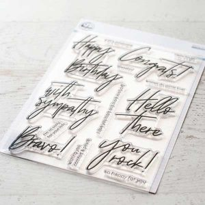 Pinkfresh Studio Scripted Bold Sentiments 2 Stamp