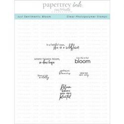 Papertrey Ink Just Sentiments: Bloom Stamp