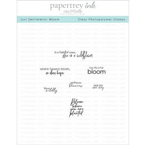 Papertrey Ink Just Sentiments: Bloom Stamp
