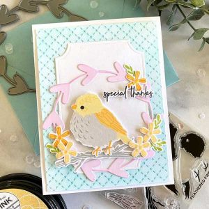 Papertrey Ink Feathered Friends 8 Mini Stamp class=