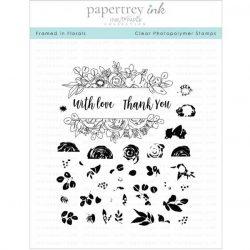 Papertrey Ink Framed In Florals Stamp