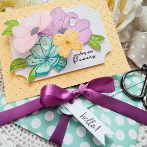 Papertrey Ink Pop-up Florals Stamp class=