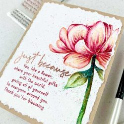 Papertrey Ink Inside Greetings: Bloom Stamp