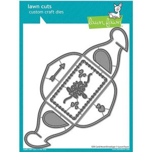 Lawn Fawn Gift Card Heart Envelope Die