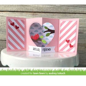 Lawn Fawn Center Picture Window Card Heart Add-On Die class=