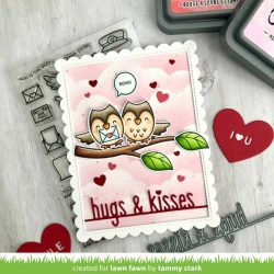 Lawn Fawn Hugs and Kisses Line Border Die