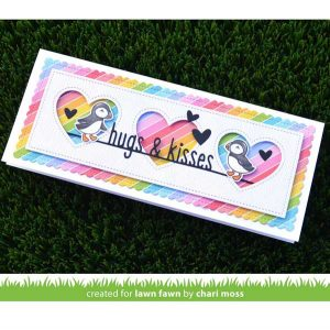 Lawn Fawn Scalloped Slimline with Hearts: Landscape Die class=