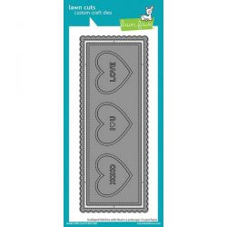 Lawn Fawn Scalloped Slimline with Hearts: Landscape Die