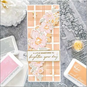 Pinkfresh Studio Slim Basic Plaid Layering Stencil class=