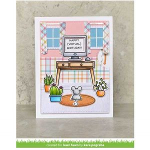 Lawn Fawn Perfectly Plaid Remix Petite Paper Pack class=