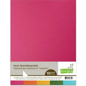 Lawn Fawn Textured Dot Cardstock – Tropical