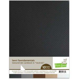 Lawn Fawn Textured Dot Cardstock – Neutrals