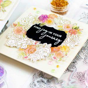 Pinkfresh Studio Joyful Bouquet Stamp Set class=