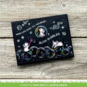 Lawn Fawn Bubbles Of Joy Stamp class=