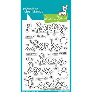 Lawn Fawn Scripty Bubble Sentiments Stamp