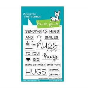 Lawn Fawn Long Distance Hugs Stamp