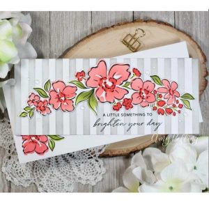 Pinkfresh Floral Notes Stamp Set class=