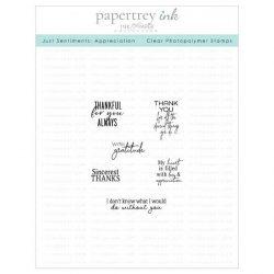 Papertrey Ink Just Sentiments: Appreciation Stamp
