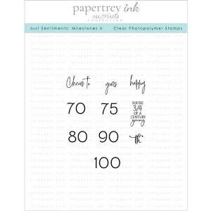 Papertrey Ink Just Sentiments: Milestones II Stamp