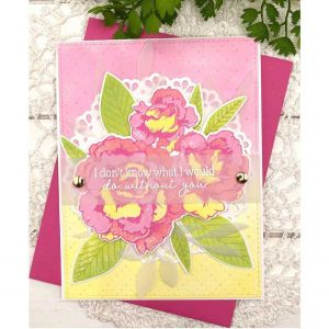Papertrey Ink Enchanting Roses Stamp class=