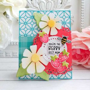 Papertrey Ink Berry Best Mom Stamp class=