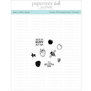 Papertrey Ink Berry Best Mom Stamp