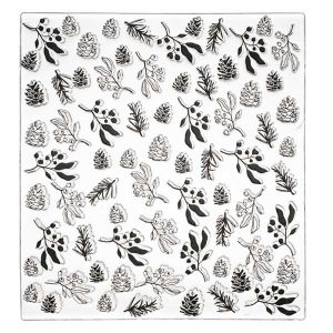 Alexandra Renke Winter Plants Pattern Stamp class=