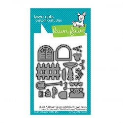 Lawn Fawn Build-A-House Spring Add-On Dies