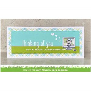 Lawn Fawn Thinking of You Line Border Die class=