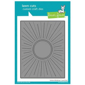 Lawn Fawn Sunburst Backdrop Die