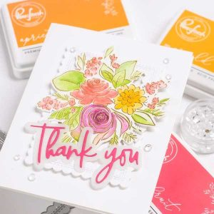 Pinkfresh Studio Joyful Bouquet Die Set class=