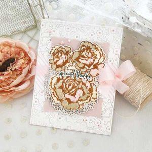 Papertrey Ink Enchanting Roses Die class=
