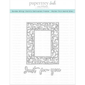 "Papertrey Ink Border Bling: Dainty Deliveries Frame Die <span style=""color:red;"">Reserve – more on the way</span>"