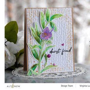 Altenew Organic Linen 3D Embossing Folder class=