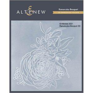Altenew Ranunculus Bouquet 3D Embossing Folder