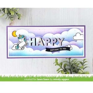 Lawn Fawn Slimline Cloudy Stencils class=