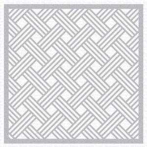 My Favorite Things Basket Weave Stencil