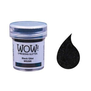 WOW! Black Glint Embossing Powder