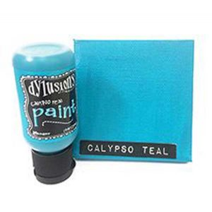 Dylusions Blendable Acrylic Paint - Calypso Teal class=