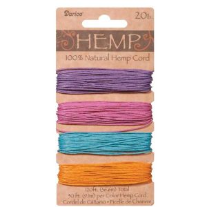 Darice Hemp Cord – Pastel