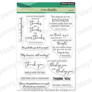 Penny Black Ever Thanks Stamp Set class=